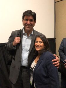 Aneesh Chopra and Pooja Babbrah at CARIN Alliance RTBC Workgroup held during HIMSS19